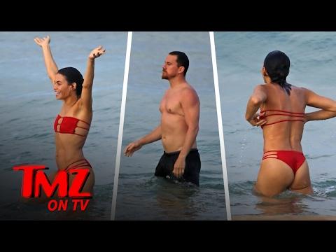 Channing Tatum and Jenna Dewan Tatum Hit The Beach   TMZ TV