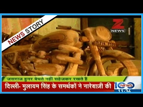Jasraj from Jaipur lives his passion by making bikes from wood