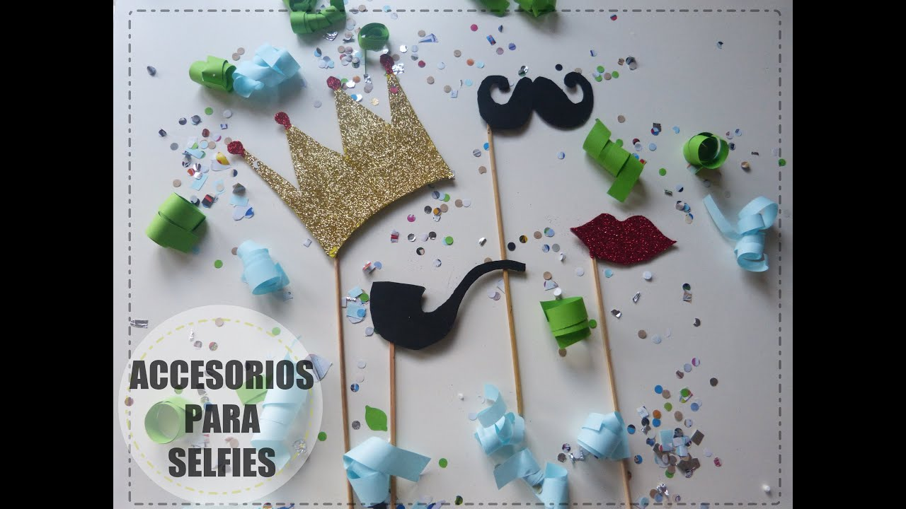 Accesorios para selfies [Kit de fiesta para Nochevieja] - YouTube