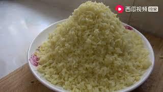 农村源子:剩米饭也能做成早餐吃,这种吃饭很新颖,一顿一碗不够吃