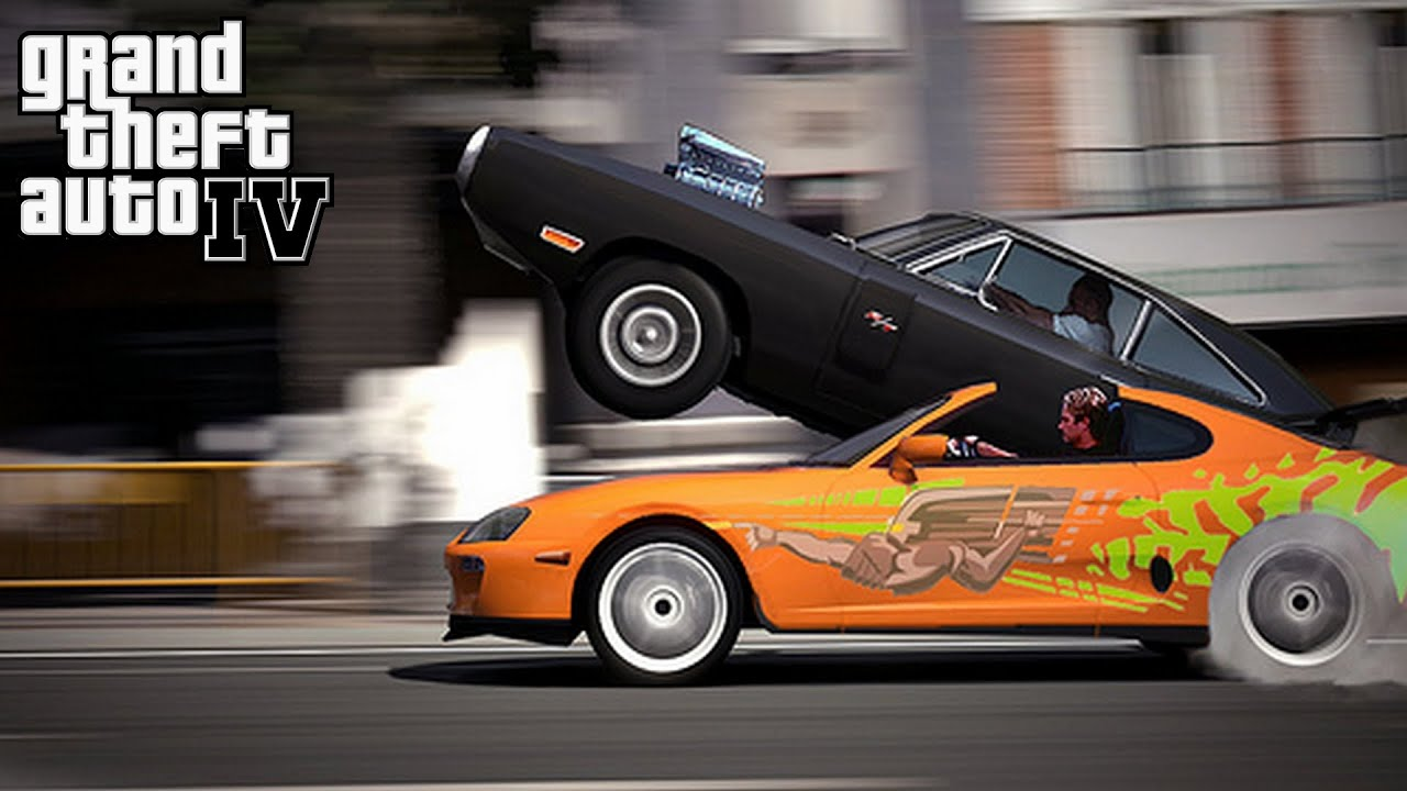 Supra Vs Charger >> Fast and Furious 1970 Dodge Charger vs Toyota Supra No Music = Epic Car Sounds GamePlay - YouTube