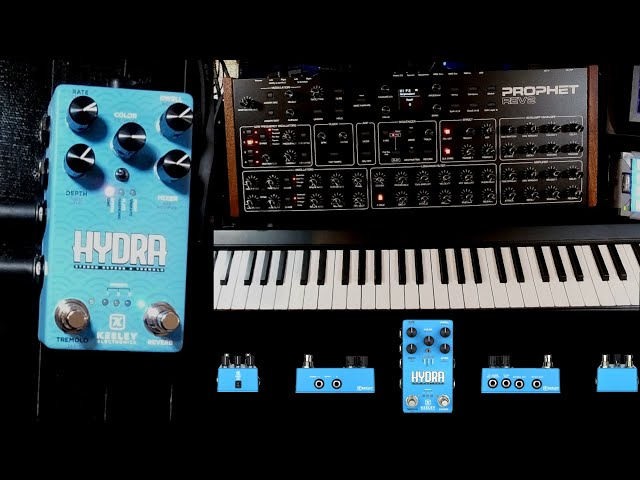 Keeley Hydra pedal on synth - Prophet Rev2