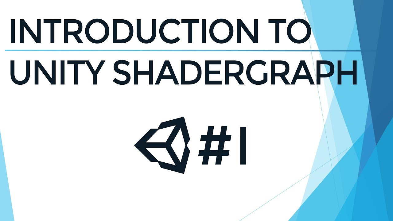 Unity Shader Graph Tutorial - Go Make Games, Unity 2018