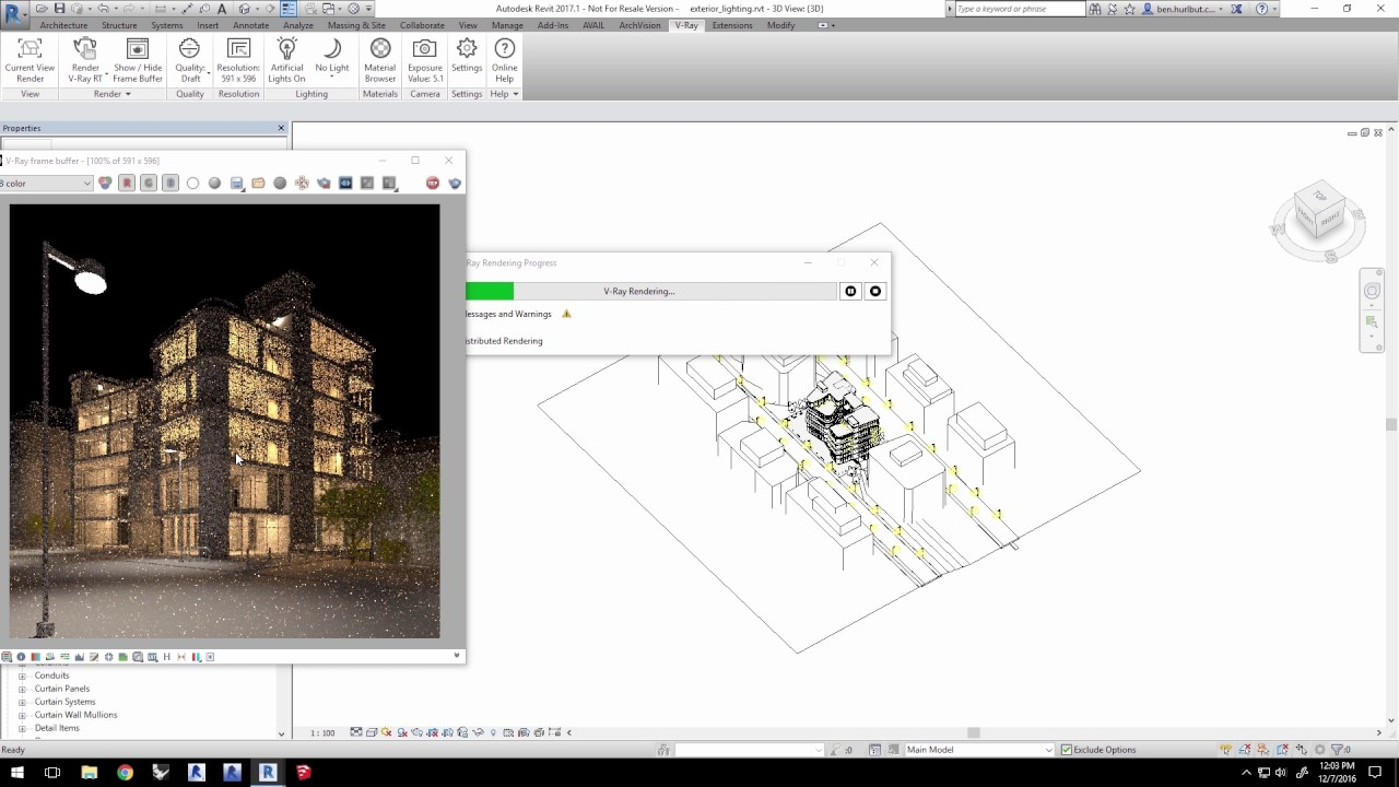 V ray for revit quick start exterior lighting youtube - Revit exterior rendering settings ...