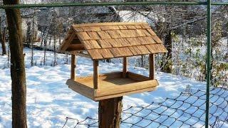 кормушка для птиц своими руками / из дуба / how to make a bird feeder