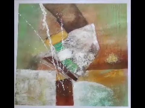 Acrylmalerei Abstrakte Landschaft Lasuren Youtube