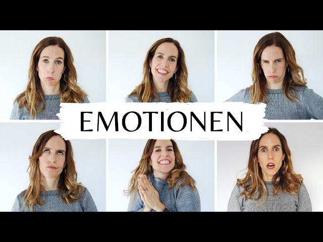 Las 6 EMOCIONES básicas en ALEMÁN 😢😊😤😒😱🤗