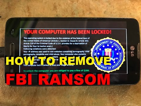 How To Remove Fbi Ransom  Scam Virus Pop-Up