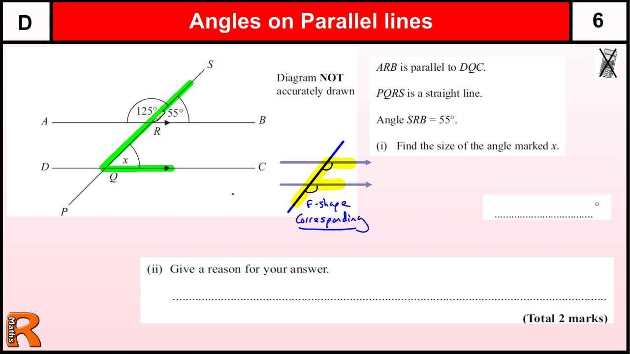 Angles on Parallel lines (Corresponding) GCSE Maths Foundation ...