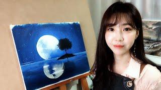 [아크릴화 그리기]초보도 할 수 있는 달그림 그리기/아…