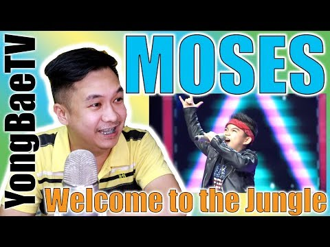 Moses - Welcome To The Jungle |The Voice Kids Indonesia Season 3 | Reaction | YongBaeTV