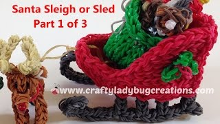 Rainbow Loom Christmas Santa Sleigh Or Sled Part 1, How To Make Loom Band Tutorials By