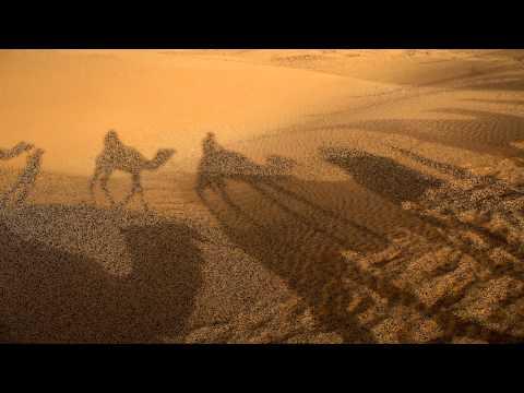 Arabian amazing music . Relaxing, lite trance. slideshow: Camels in desert.