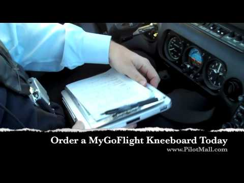 IPad Kneeboard Pro C (with Clipboard) By MyGoFlight Product Demo