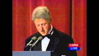 Bill Clinton At The White House Correspondents Dinner, 1996 pt1