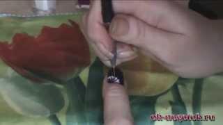 """Видео урок №7. Рисунок на ногтях """"Цветок желаний"""""""