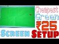 VLOG #2Cheapest Green Screen Setup iBest Budget chroma