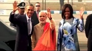 Namaste POTUS. Obama arrives in India for three-day visit