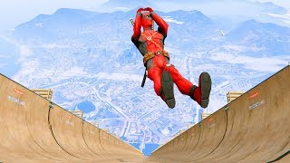 GTA 5 Deadpool Jumper/Falls compilation (GTA 5 Fails Funny Moments/Ragdolls)