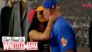 The most memorable kiss in WWE history! - Our Road to WrestleMania: John and Nikki