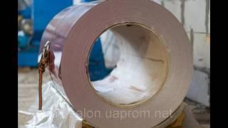 видео Оцинкованный металл с полимерным покрытием в рулонах.