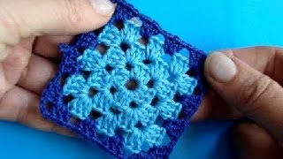 Вязание крючком - Урок 204- Квадрат 10 - Crochet square