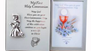 First Communion Photo Frame With Album For Girl Or Boy