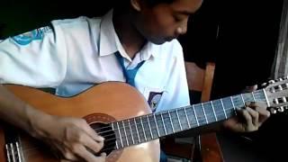 Belajar petikan akustik (2 jari) cinta terbaik