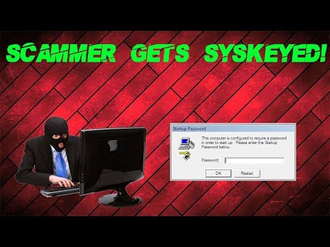 Syskeying a Tech Support Scammer's PC!!