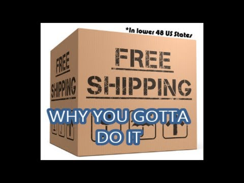 WHY YOU SHOULD use FREE SHIPPING in your EBAY BUSINESS!!!** my story