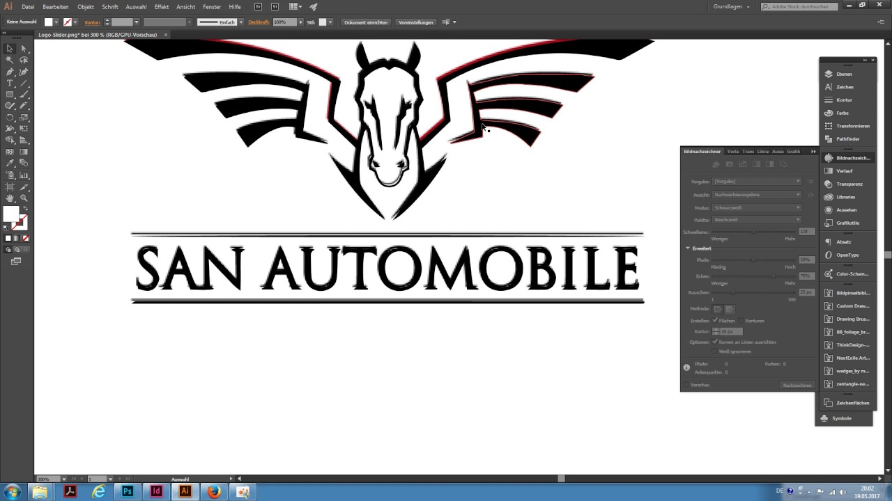 Adobe Illustrator Cc Logo Schnell Vektorisieren Youtube