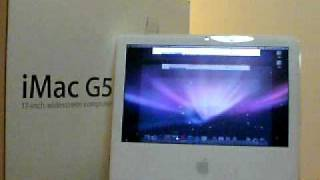 "Apple iMac G5 iSight 17"" Computer Running"