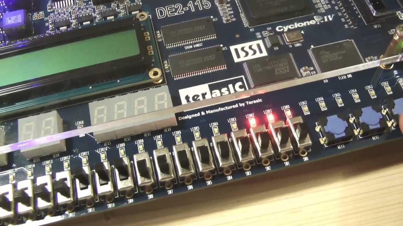 Altera DE2-115 FPGA - Unpacking and Demonstration