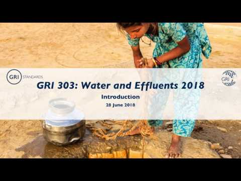 Introducing GRI 303: Water and Effluents 2018