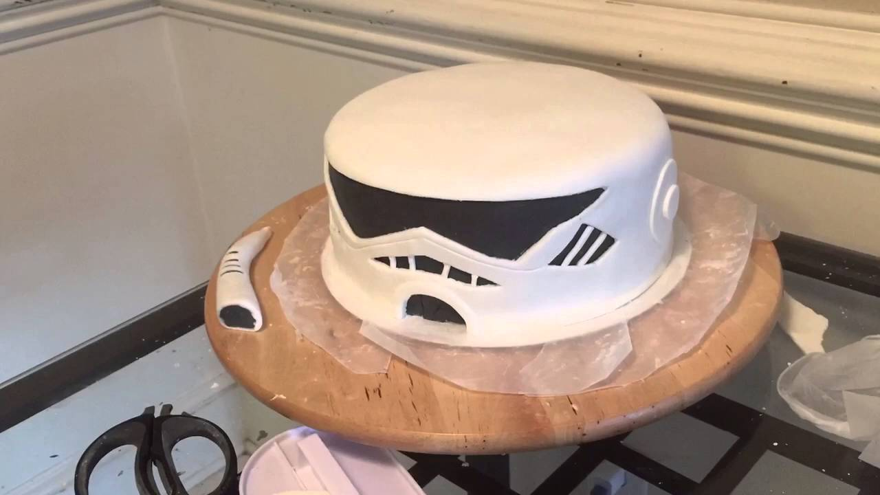 Storm Trooper Cake For Nyles 16th Birthday Youtube