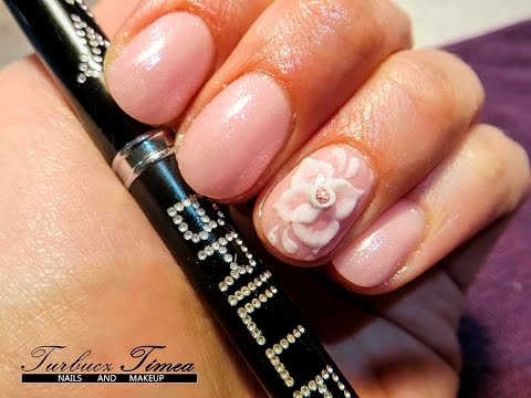 Acrylic 3d Flower Nail Art Step By Step Tutorial Youtube