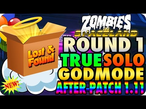 """Zombies In Spaceland Glitches: True Solo GodMode Round One """"After Patch 1.11"""" - Infinite Warfare"""