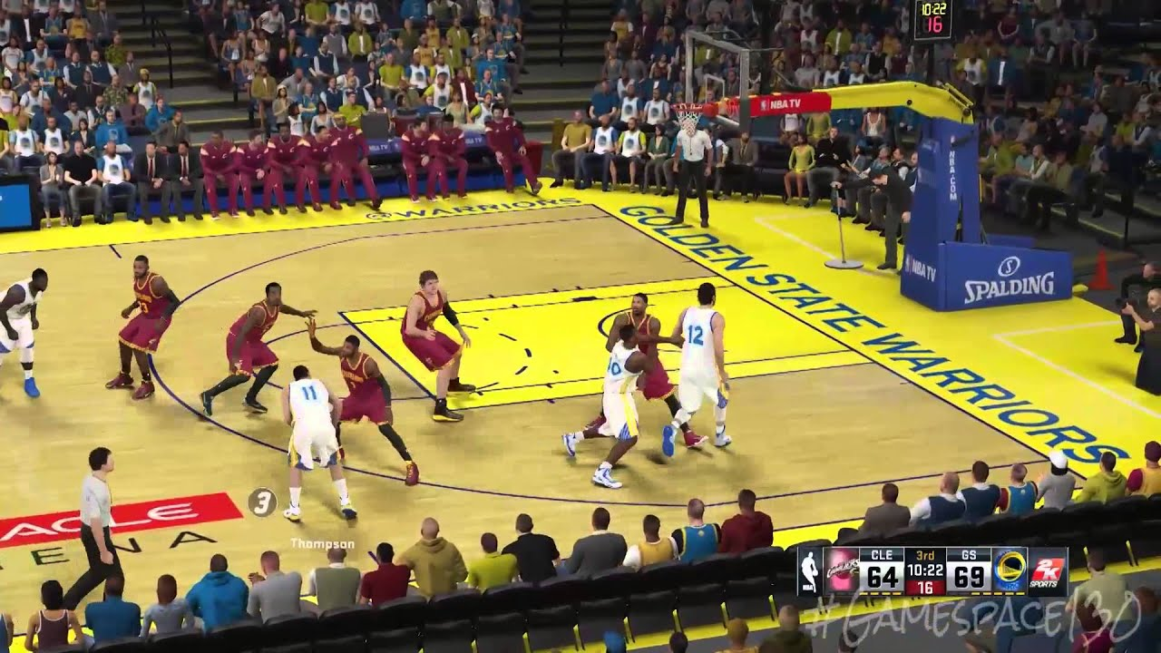 2015 NBA Finals Game 1 - Cleveland Cavaliers vs Golden State Warriors (NBA 2K15 Sim) - YouTube