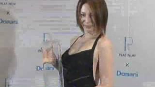 「第1回プラチナ・ミューズ アワード」の表彰式が9日、開かれ女優の米倉...