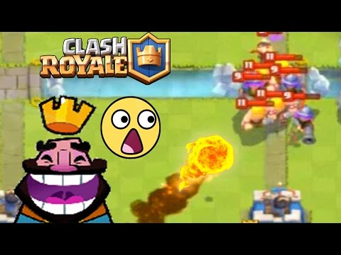 Clash Royale - ENORME BOULE DE FEU ! Gros Gameplay  en Arene LEGENDE !