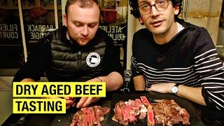 15 VS 45-Day-Old Dry Aged Beef Ribeye ! #MouthWateringChallenge