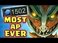 1500+ AP THE LEGENDARY SAPLING-ONLY-KILL | NEW REWORK MAOKAI JUNGLE | THE MOST AP EVER - Nightblue3