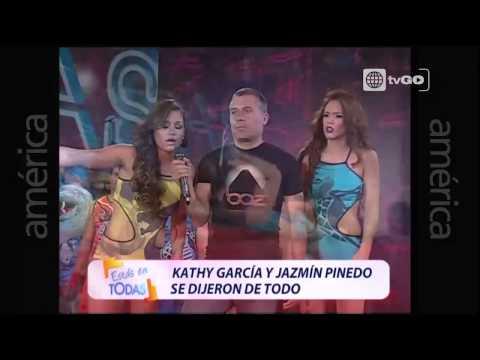 Kathy García y Jazmín Pinedo se dijeron de todo -  Estas en Todas - Miercoles 25-03