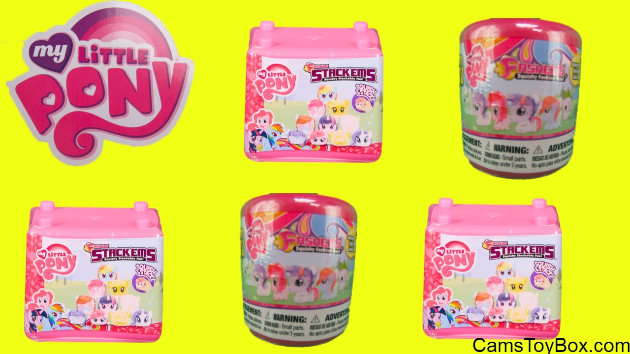 MLP Series 6 Fashems My Little Pony Stackems Series 1 Super Squishy Surprise Toys for Kids Fun ...