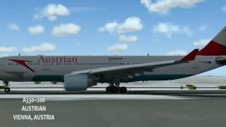 FS2004 Austrian departing Vienna A330~200