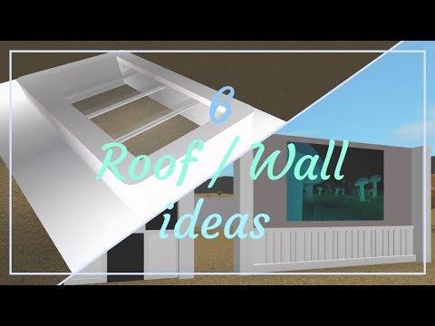 Roblox | Bloxburg: 6 Wall / Roof Ideas