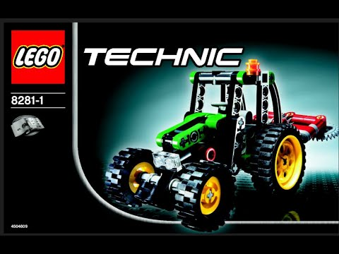 2006 Instruction Lego Technic 8281 Mini Tractor Set Youtube