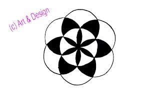 circle drawing simple draw pattern step compass drawings clipartmag paintingvalley
