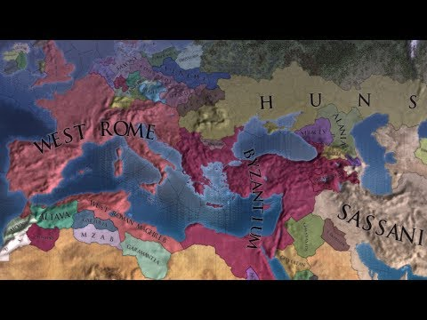 EU4 The Hunnic Invasion of Europe 395 to 1950 - Extended Timeline - AI Timelapse |