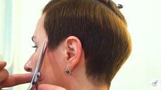 Короткая женская стрижка ПИКСИ - обучение парикмахеров. Артем Любимов.